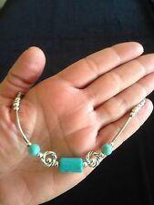 Bracelet Silver Turquoise Hippie Ethnic Bohemian Tribal Gypsy Folk B1035