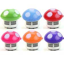 1pc Cute Mini Mushroom Corner Desk Table Dust Vacuum Cleaner Sweeper