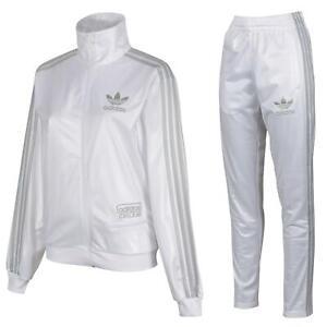 adidas ORIGINALS MEN'S CHILE 62 TRACKSUIT WHITE 3 STRIPES RETRO JACKET PANTS