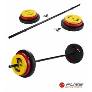 Pure2Improve - 20Kg Barbell Home Gym Fitness Equipment - WAS £64.99 NOW £44.99!