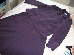 Ladies Damart deep purple suit ,jacket and skirt size 22
