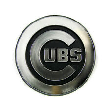 Chicago Cubs Plastic Auto Chrome Team Emblem W/Adhesive Tape