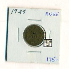 1925 Canada 1 cent Coin , AU55 (OOAK)