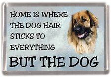 "Leonberger Dog Fridge Magnet ""Home is Where"" Design by Starprint"
