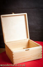 UNPAINTED NEW WOODEN BOX 24CM/KEEPSAKE SOUVENIRS MEMORY BOX/ ART CRAFT DECOUPAGE
