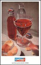 PUBBLICITA' 1954 APERITIVO CINZANO CINZANINO SODA AMARO BOTTIGLIA DRINK BAR CAP