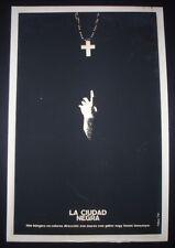 BLACK CITY Original 1974 CUBAN Silkscreen Poster for Hungarian Movie / Cuba Art