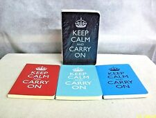 """#CS-KC UK WILD & WOLF """"KEEP CALM and CARRY ON"""" PACK OF 4 MINI COLORFUL NOTEBOOKS"""