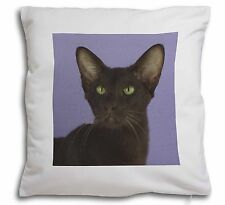 Chocolate Havana Cat Soft Velvet Feel Cushion Cover With Inner Pillow, AC-97-CPW