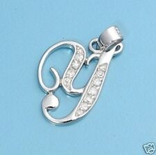 Y Letter Alphabet Initial CZ Pendant Sterling Silver 925 Best Price Jewelry Gift