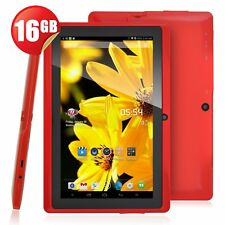 "7"" HD Tablet PC Android 4.4 Quad Core 16GB Dual Camera Bluetooth WIFI Kids Tab"
