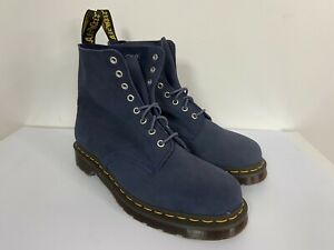 Dr Doc Martens Men's Size 11 Navy Blue Pascal 1460 Ankle Boots Suede Leather