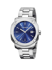 SWISS ARMY WENGER 01.1141.112 Men's Edge Stainless Steel Watch Blue Dial