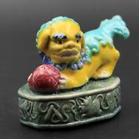 Vintage Asian Chinese Ceramic Figurine Figure Sculpture Miniature Foo Dog