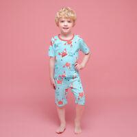 """Candy-baby Toddler Kids Boys Clothes Pajamas Sleepwear set /""""crab/"""" 12M-9T"""