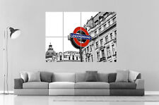 London Londres Métro Underground Urban Street Wall Art Poster Grand format A0