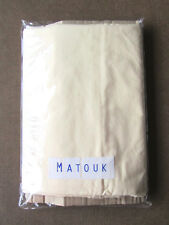 Matouk King Pillowcases, Pair, In Color Butter, Excellent Pre-Owned Condition