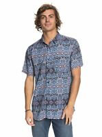 Quiksilver Men's Fluid Look Fata Morgana Abstract S/S Woven Shirt (Retail $55)
