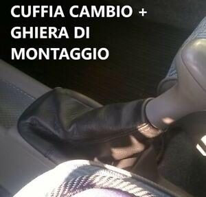 Fiat Panda 141 cuffia cambio vera pelle + ghiera cornice in plastica interna