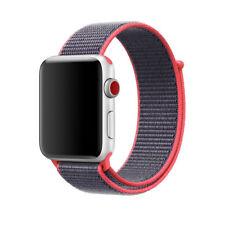 Nylon Woven Sport Loop Bracelet Watch Band Strap For Apple Watch 38mm 42mm KOYOT