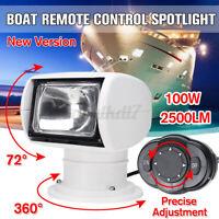 Boat Remote Control Spot Light Marine Remote Searchlight Truck Car 12V 100W  ✯