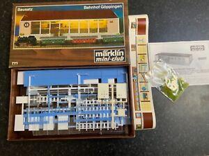 Marklin spur z scale/gauge. Vintage Goppingen Station Kit.