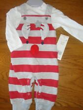 BNWT Baby boy dungaree outfit with reindeer. F&F. 0-3 months        (2/1)