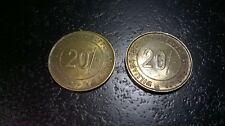 2 WILLIAMS BROS DIRECT SUPPPLY STORES 20 SHILLING TOKENS