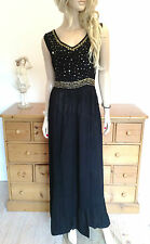 Black Beads Sequins Simply Fabulous Size 14 Party MAXI DRESS Gorgeous