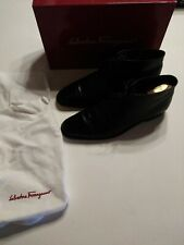 Men's SALVATORE FERRAGAMO 'Brandon' Black Leather Dress Shoes Size US 10.5 - D