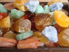 COLORFUL CALCITE Rough  - 2 1/2 LB Lot - TUMBLER, CABBING ROUGH - FREE SHIPPING