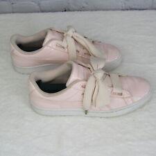 Puma Women's Basket Heart Patent Sneaker Pink Shiny Ribbon 363073 US 8.5 UK 6