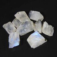 26.80CtsNatural Blue Rainbow Moonstone Rough lot Loose Gemstone