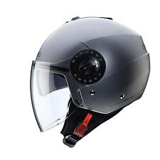 Caberg Riviera V3 Open Face Motorcycle Helmet Matt Gun Metal Sizes Xs-xl M 57-58cm C6FA0091M