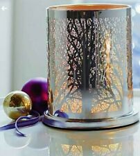 Partylite Enchanted Woodland Hurricane Candle.,Tealight and Voltive Holder