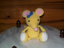 Adorable crochet 7 in Baby Mouse animal doll toy handmade nursery