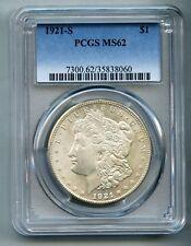 1921 S Morgan Silver Dollar PCGS MS 62