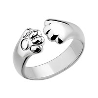 925 Cute Women Cat Paw Claw Open Silver Plated Ring Animal Jewelry KIDS Gift