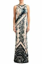 Just Cavalli Multi-Color Embellished Sleeveless Women's Maxi Dress US S IT 40