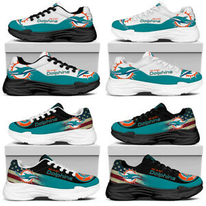 Miami Dolphins Non Slip Trainers Breathable Sports Shoes Lightweight Sneakers