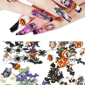 200 x Halloween 3D Manicure Decor Decals Art Nail Glitter Graffiti Sticker Patch