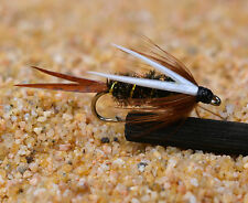 6 Fly Fishing Foam Poppers Flies Spiders # 10 Hooks Trout Panfish Bluegill Bass
