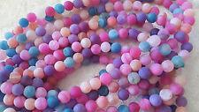 30 Agates  givrées perles semi-précieuses