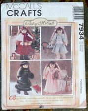 McCall's Crafts Betsy McCall Doll Dress Pattern 7934 Uncut Winter Holiday P486