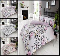 Designer EDEN FLOWERS Floral Printed Reversible Duvet Quilt Cover Bedding Set Gc