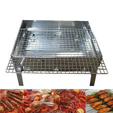 STAINLESS CHARCOAL PORTABLE GRILL MANGAL SHISH KEBAB BBQ BARBECUE SHASHLIK
