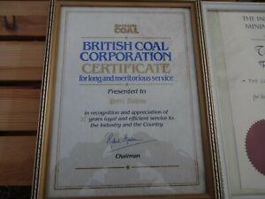 BRITISH COAL MINING Certificates