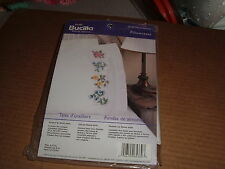 PKG OF 2 SEALED BUCILLA PILLOW CASES STAMPED EMBROIDERY KIT FLORAL USA 2002