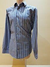BANANA REPUBLIC size L Blue striped long Sleeved shirt