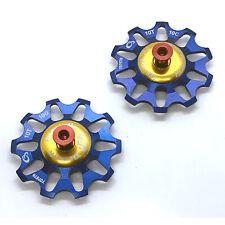 Token Ceramic Bearing Derailleur Pulleys - Campagnolo 10 Speed - Blue
